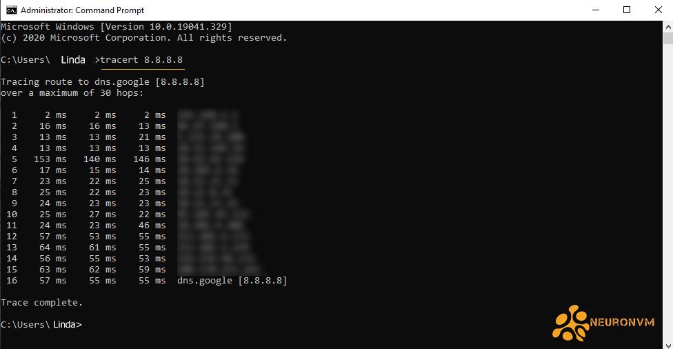 Trace on Windows RDP