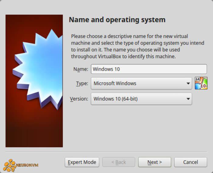 install windows 10 on virtualbox