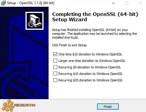 openssl installation on rdp 2016