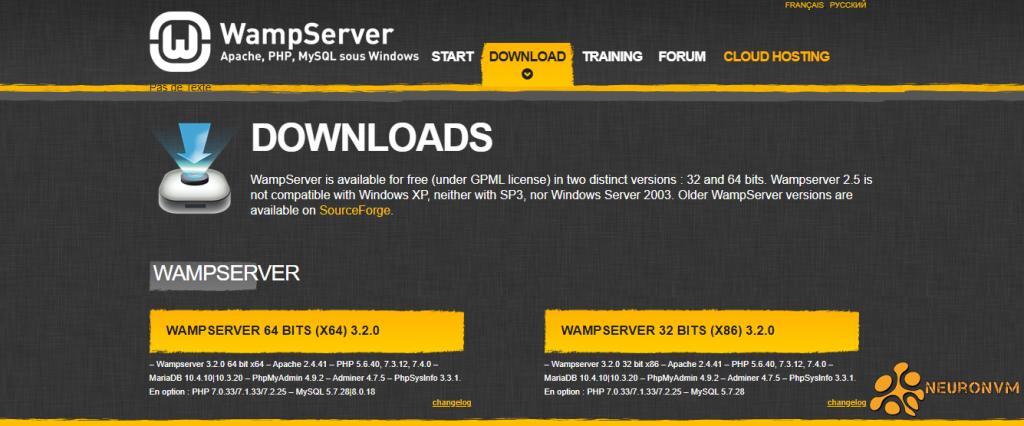 how to download wamp server on windows server 2019