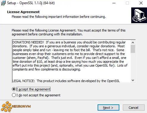 openssl installing progress