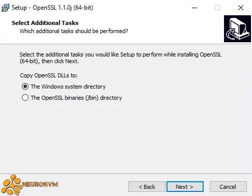 select additional tasks in openssl