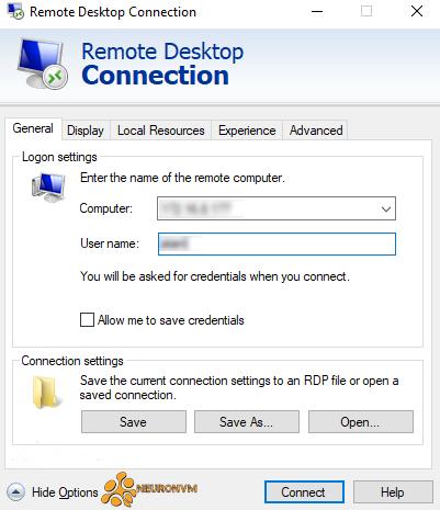 how to enter remote desktop connection