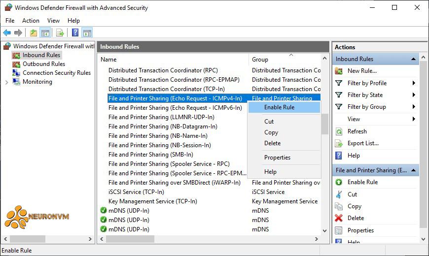 windows firewall enable