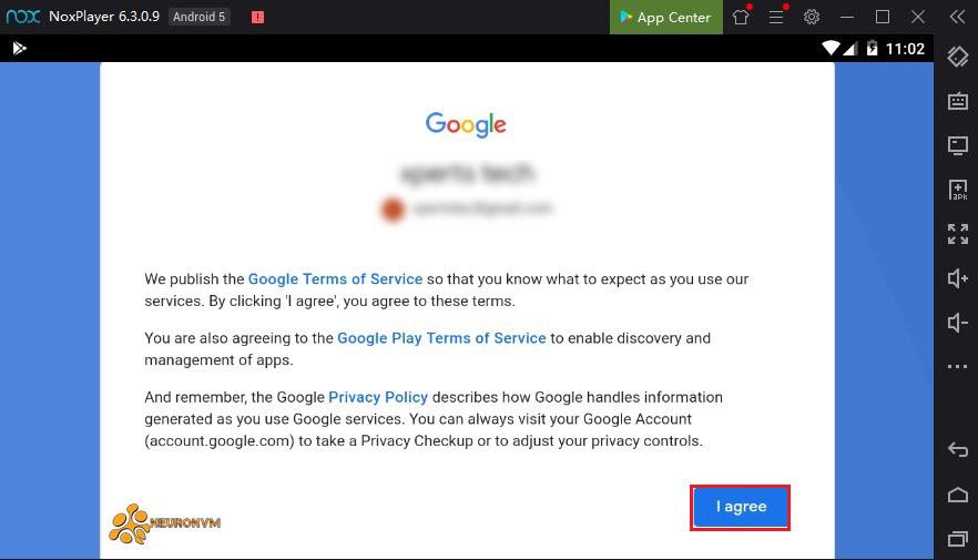 setup gmail account on Nox player