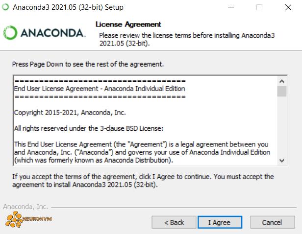License agreement-anaconda