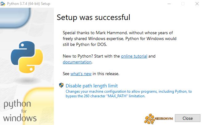 installing python on windows server 2019