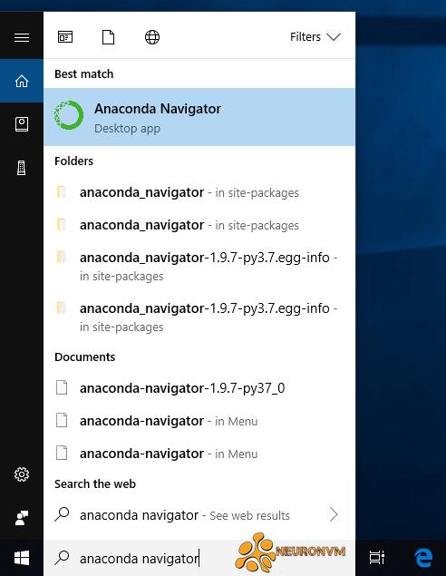 windows server anaconda navigator