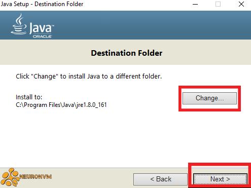 Destination folder NetBeans