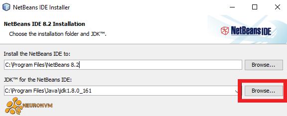 change the JDK location NetBeans