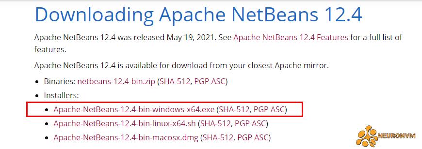netbeans 12 on windows server 2016