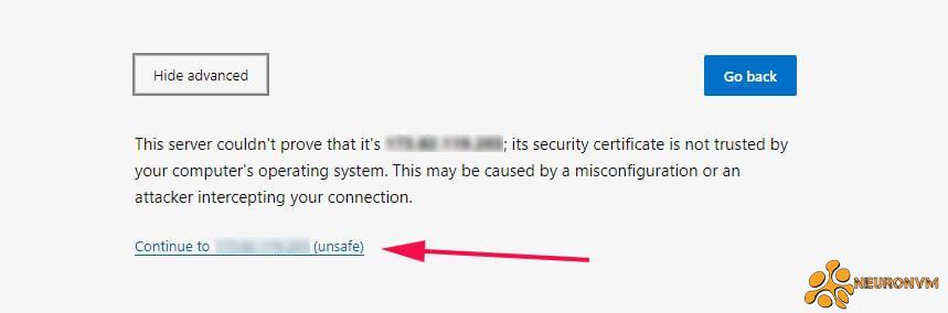 server-IP setting on webmin